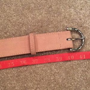 Pink suede leather belt, nwt, New York & co, large